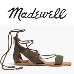Madewell Bridget Gladiator Olive Green Sandals